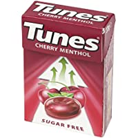 Tunes Sugar free Cherry Menthol Sweets 24