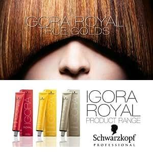 Schwarzkopf Igora Royal true golds Permanent hair color all shades 60 ml 6-5 Dark Blonde Gold