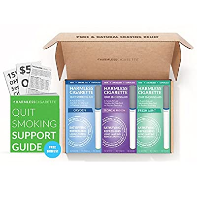 Stop Smoking Product To Satisfy & Reduce Cravings / Includes FREE Guide & Hypnosis Audiobook / Perfect To Use With Nicotine Patches, Nicotine Gum, Lozenges, Smoking Cessation Medication from Harmless Products Co.