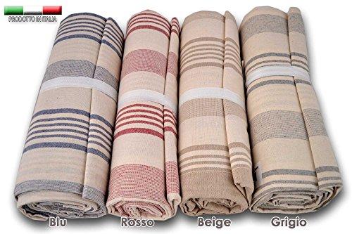 Centesimo web shop telo arredo copritutto 2 misure prodotto in italia gran foulard multiuso telo tuttofare copridivano - fantasia classica righe rigato grandi - 160x280 cm beige