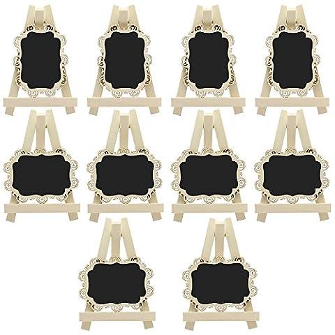 Meetory 10X Mini Rechteck Tafeln mit Staffelei und dekorative Grenze