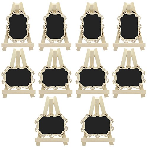 hteck Tafeln mit Staffelei und dekorative Grenze für Hochzeit Party Tisch Zahl Zeichen Platz Karte Bevorzugung Tag ()