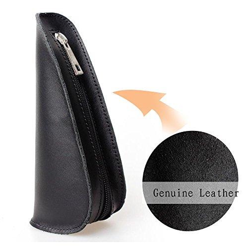 Portable geninue Support simple en cuir Pochette Sac Tabac Tuyau Étui pour tuyau noir