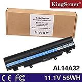 kingsener Batterie pour Ordinateur Portable Acer AL14A32Aspire E 15Touch Aspire E14Aspire E14Touch Aspire E15Aspire E15/Touch AL14A325000mAh 6cellules