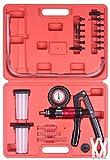 Coffret d'outils kit de purge de frein testeur de pompe à vide portatif avec 2 pots récupérateurs pour auto moto