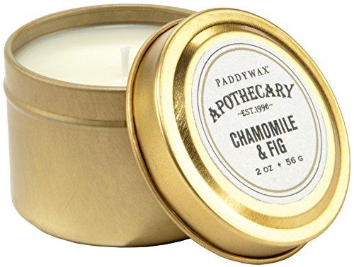 Paddywax Bougie de Voyage Ambre et fumée 5 g, Chamomile & Fig, 2 oz