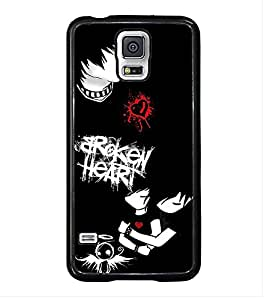 Fuson Premium 2D Back Case Cover Broken heart With Multi Background Degined For Samsung Galaxy S5 Mini::Samsung Galaxy S5 Mini G800F