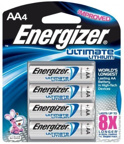 L91BP4 E2 Lithium AA Battery (4 Pack) by Energizer Batterie 4er-pack Energizer