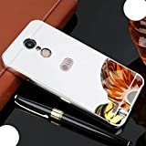 WEIFA LG Zero H740 Class Case, Very Light Slim Reflective Make-Up Plated Mirror Cover with Metal Bumper, Newest 2 In 1 Protection Combined Cellphone Case for LG LV5 Silver