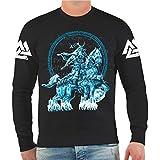 Spaß kostet Männer und Herren Sweatshirt Odin Schlachtross Größe S - 10XL