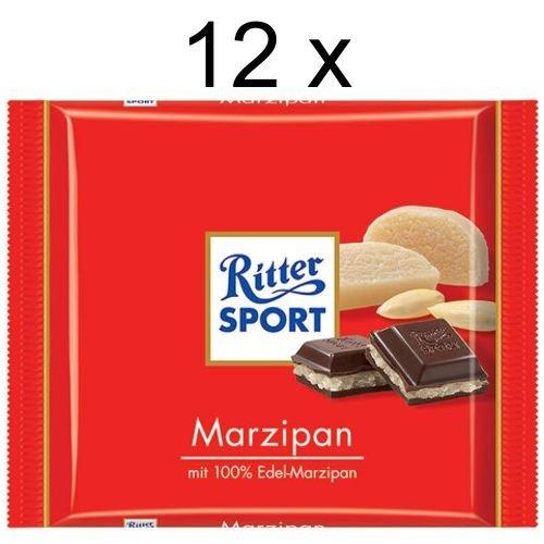 Ritter Sport Marzipan (12x 100g Schokoladen-Tafeln) (Ritter Sport Marzipan)