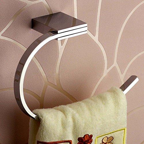 ThinkTop Luxus solidem Messing Toilettenpapierhalter Toilettenrollenhalter, Chrom-Finish Spiegel poliert Quadratisch Design Wand montiert Badezimmer Zubehör, Messing, Towel Bar - Messing Wand Spiegel