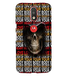 Printdhaba Typography D-3505 Back Case Cover For Motorola Moto G4 Plus
