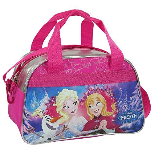 Maxi & Mini - Borsa da viaggio/sport o per il tempo libero, motivo: Frozen, la regina delle nevi Disney, adatta come bagaglio a mano