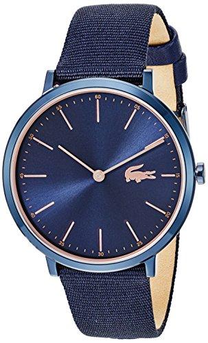 Lacoste Women's Moon 35mm Blue Cloth Band Steel Case Quartz Watch 2000999