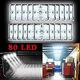 Lampe Intérieur de Auto 80 LED Plafonnier Véhicule DC 12V