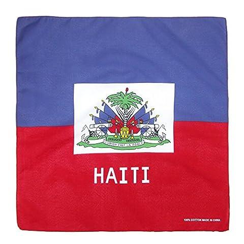 CTM Cotton Haitian Flag Bandana, Haiti