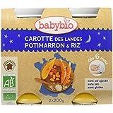 Babybio Pots Carotte des Landes Potimarron/Riz 400 g -
