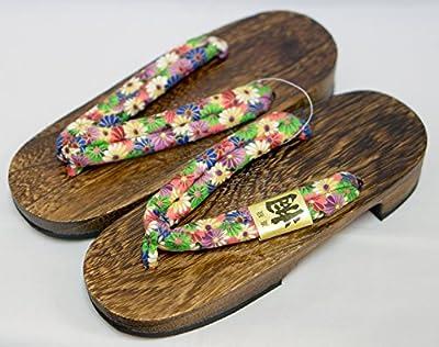 [Japón Hecho] Geta Paulownia sandalias de madera tradicional de calzado Kogiku Diseño Talla M