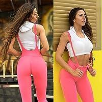 Houjibofa Pantaloni Yoga Slim Geometrici Stampati a Vita Alta Pilates Casinò e attrezzature