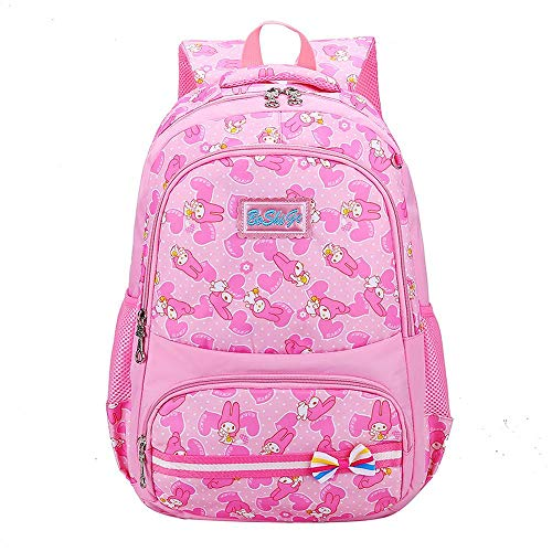 YXRL Rucksack Mit Verstellbaren Schultergurten Tragegriff & Amp; Dual Drink Bottle Sleeves Für Kleinkind Mädchen (Pink) Pink B-M Bm Amp