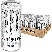 Monster Energy Ultra White mit mildem Zitronengeschmack - ohne Zucker & mit wenig Kalorien / Energy Drink Palette / 24 x 500 ml Dose
