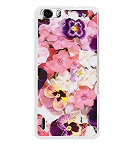 Beautiful Flowers 2D Hard Polycarbonate Designer Back Case Cover for Huawei Honor 6