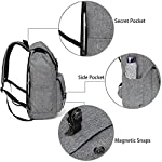 Vaschy Casual Backpack Backpack Men Camping Rucksack Daypack Teen School Backpack Backpack for 15.6in Laptop Black (Charcoal Grey) - casual-daypacks