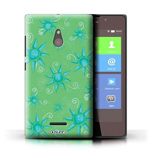 Kobalt® Imprimé Etui / Coque pour Nokia XL / Bleu/Jaune conception / Série Motif Soleil Vert/Bleu