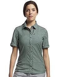 Icebreaker Women's Short-Sleeved Shirt Terracotta Short Sleeve Plaid