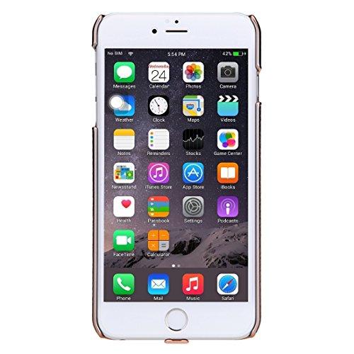 iPhone Case Cover NILLKIN 2 en 1 N-JARL Étui pour iPhone 6 & 6s Litchi Texture PU Skin Étui de protection pour PC avec QI Standard Récepteur de charge sans fil ( Color : Black ) Black