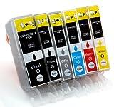6x Tintenpatronen mit Chip CLI-526/PGI-525 kompatibel zu Canon für Canon Pixma MG6150 MG6250 MG8150 MG8250
