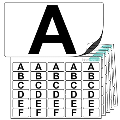 Premium Plastic Alphabet Letter Stickers A to Z (5 of each letter) + 25 Blank. Ultra Durable Label Stock. Suitable For Outdoor Use. 100% Waterproof. Free UK