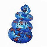 Trimming Shop, Cupcake-Ständer, Etagere, 3-stöckig, runder Turm aus Karton, für Kinder-Partys und Veranstaltungen spiderman - 2