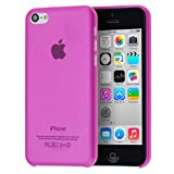 doupi UltraSlim Custodia per iPhone 5C, Satinato fine Piuma Facile Mat Semi Trasparente Cover, Pink