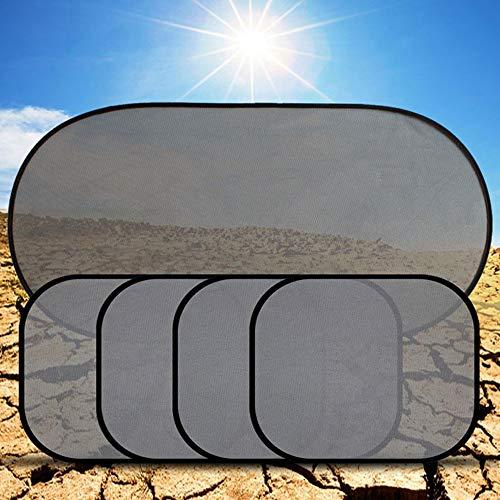 Xljh 5 Stücke 3D Photokatalysator Mesh Sonnenblende Fenster Sonnenschutz Auto Vorhang Auto Abdeckung Sonnenschutz Auto Innen Produkt mit Zwei Sauger