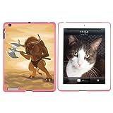 Minotaurus-Fantasy War Axe Mittelalter-Schutzhülle zum Aufstecken für Apple iPad 2/3/4-Pink