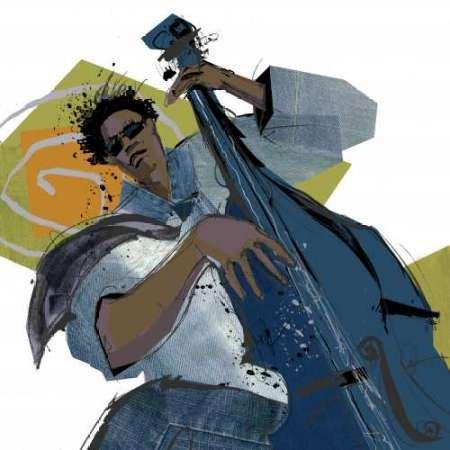 Bass Player di Johnson, disponibile Cathy-Stampa artistica su tela e