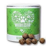 Wurm-Snack (350g) für Hunde | zusätzliche Unterstützung der Darmpflege und Darmflora bei und nach Wurmkur | widerstandsfähigeres Darmmilieu dank Kräutern, Ölen und Pflanzenteilen | Für Welpen geeignet