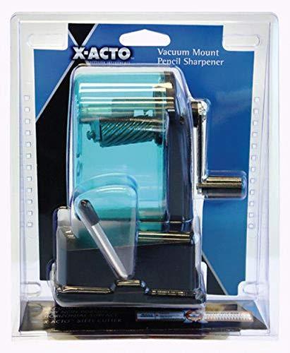 ller Bleistiftspitzer zur Wandmontage, durchsichtiges Behälter, haftet auf jeder nicht porösen Oberfläche, X-ACTO gehärteter Spiralschneider 2012687 ()