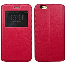 Prevoa ® 丨 XiaoMi Mi 4i Mi4i Mi4C Mi4 C Funda - Flip S - View Funda Cover Case para XiaoMi Mi 4i Mi4i Mi4C Mi4 C 5.0 Pulgadas Android Smartphone - Rosa