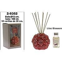 DonRegaloWeb - Bola mikado con rosas con frasco de 100 ml. Y varillas de 30cm con olor lilac blossom