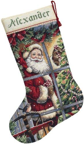 Dimensions Gezählter Kreuzstick Set, Candy Cane Santa