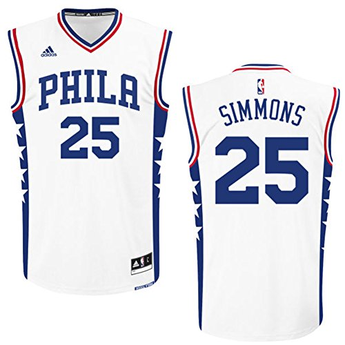 Philadelphia 76ers 25 Ben Simmons Trikot Herren Basketball Jersey Mens Shirt White Size M (Basketball-jersey-shirt)