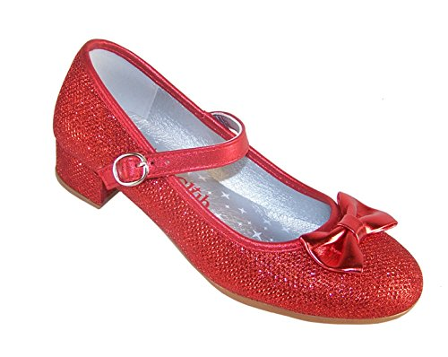 d Niedriger Absatz Party Schuhe Dorothy Style - Rot, 40 (Kinder Schuhe Dorothy)