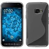PhoneNatic Case kompatibel mit Samsung Galaxy Xcover 4 / 4s - grau Silikon Hülle S-Style + 2 Schutzfolien