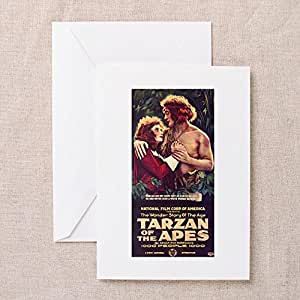 CafePress Tarzan Of The Apes Greeting Card - 4x5.6 Multi-color