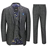 Xposed Herren Anzug, Fischgrät-Muster Grau grau 116,84 cm 91,44 cm Gr. 27, grau
