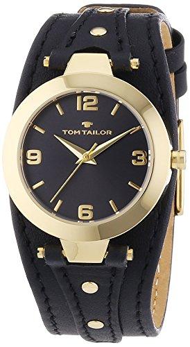 TOM TAILOR Damen-Armbanduhr XS Analog Quarz Leder 5413101