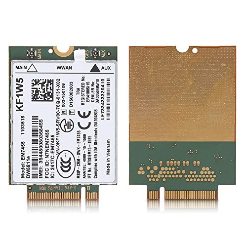 vbestlife Reemplazo inalámbrico em7455para Dell dw5811e 3p10y Qualcomm 4G LTE WWAN NGFF...